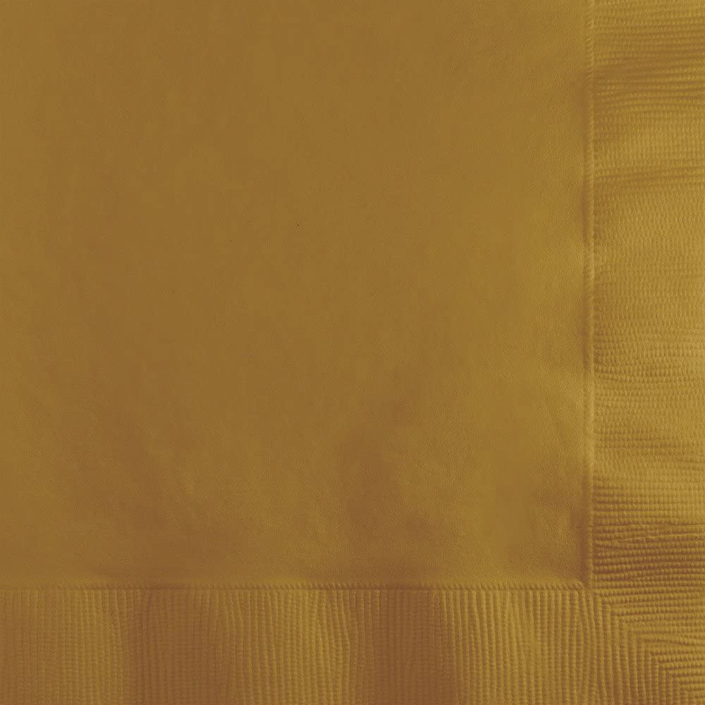 Creative Converting Paper Beverage Napkins Touch of Color, Glittering Gold