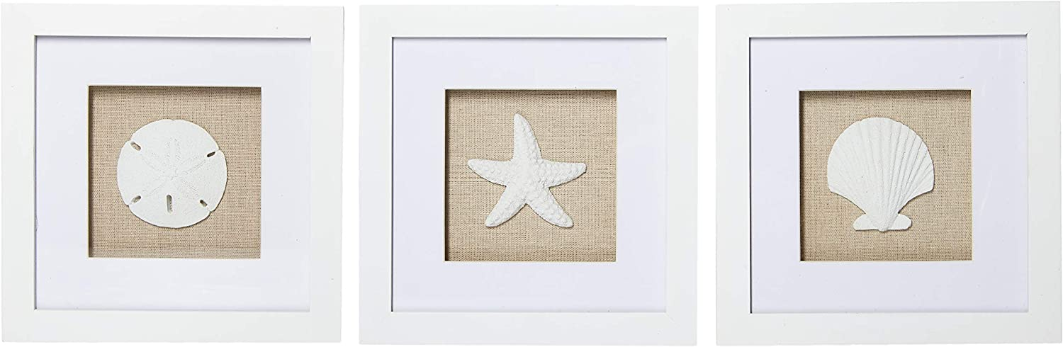 Beachcombers SS-BCS-03131 1 of Assorted Shell Shadow Box Frame, White