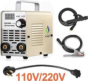 HITBOX ARC Welder 110V 220V Dual Voltage 200A MMA Inverter Welding Machine
