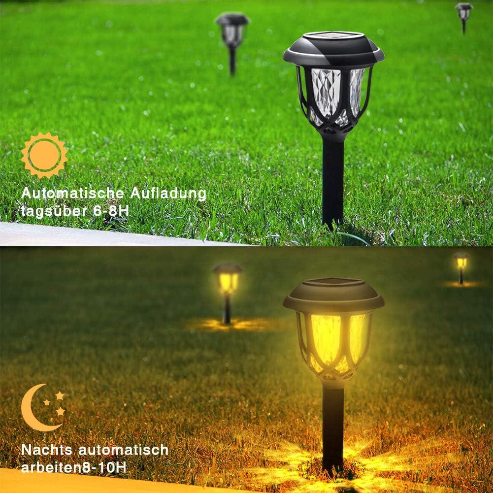 Wege GEEDIAR Gartenleuchte Solar Wasserdicht Warmwei/ß Solarlampen f/ür au/ßen f/ür Terrasse Rasen Garten Solarleuchten Garten 6 St/ücke