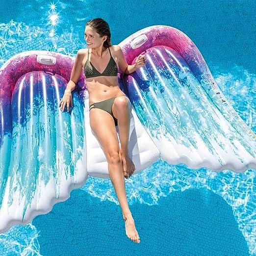 FESTNIGHT Flotador Piscina Centro de Juegos Hinchable Angel ...