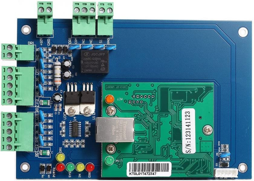 Wiegand Single Door Access Control Board Metal Power Box Electric Strike Lock RFID Door Reader RFID Key Fobs//Cards Phone APP remotely Open Door