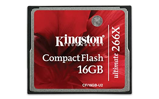 Kingston CF/16GB-U2 - Tarjeta de Memoria CompactFlash Ultimate de 16 GB, 266x