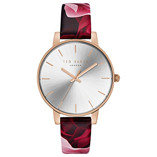 bdde598a2691 Ted Baker Women s Floral Leather Strap Watch TE15162008  Amazon.co.uk   Watches