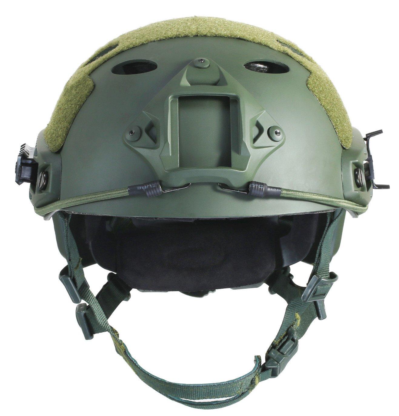 OneTigris PJ moderno casco táctico ligero para airsoft paintball, color Armee Grün, tamaño Kopfumfang: 56cm -60cm (22 - 23,6) 6)