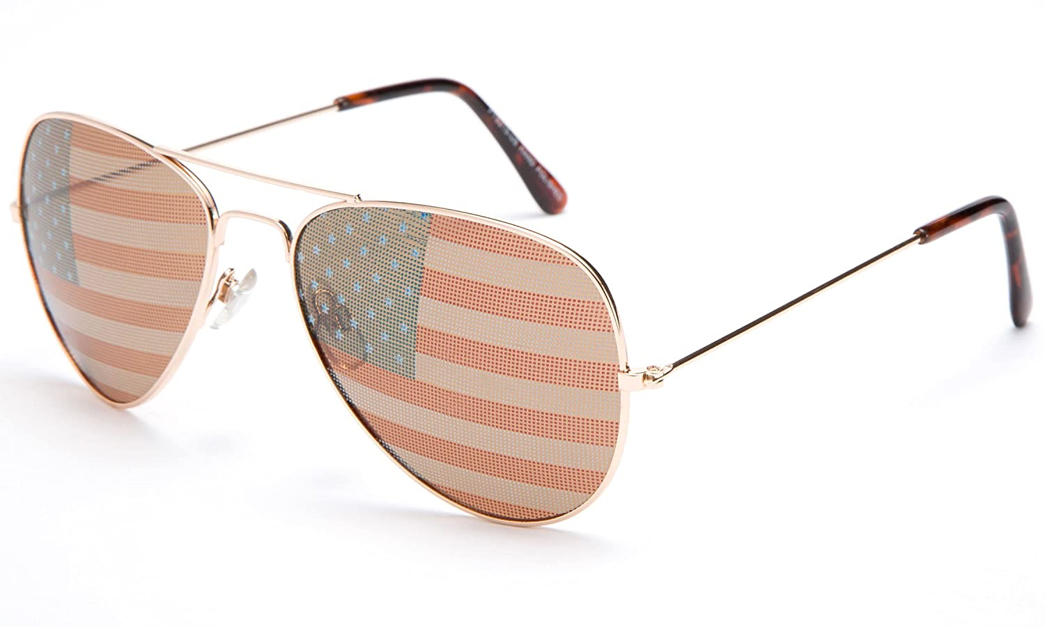 Kyra World Cup 2014 United States Flag Patriotic Olympic Soccer Aviator Style Sunglasses