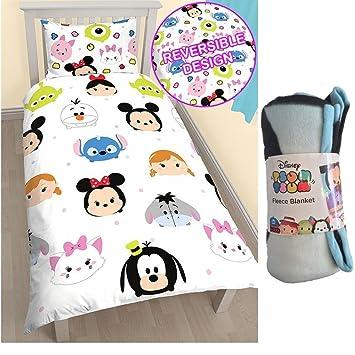 Disney Set Von 3 Tsum Tsum Single Bettwäsche Set Und Fleece Decke