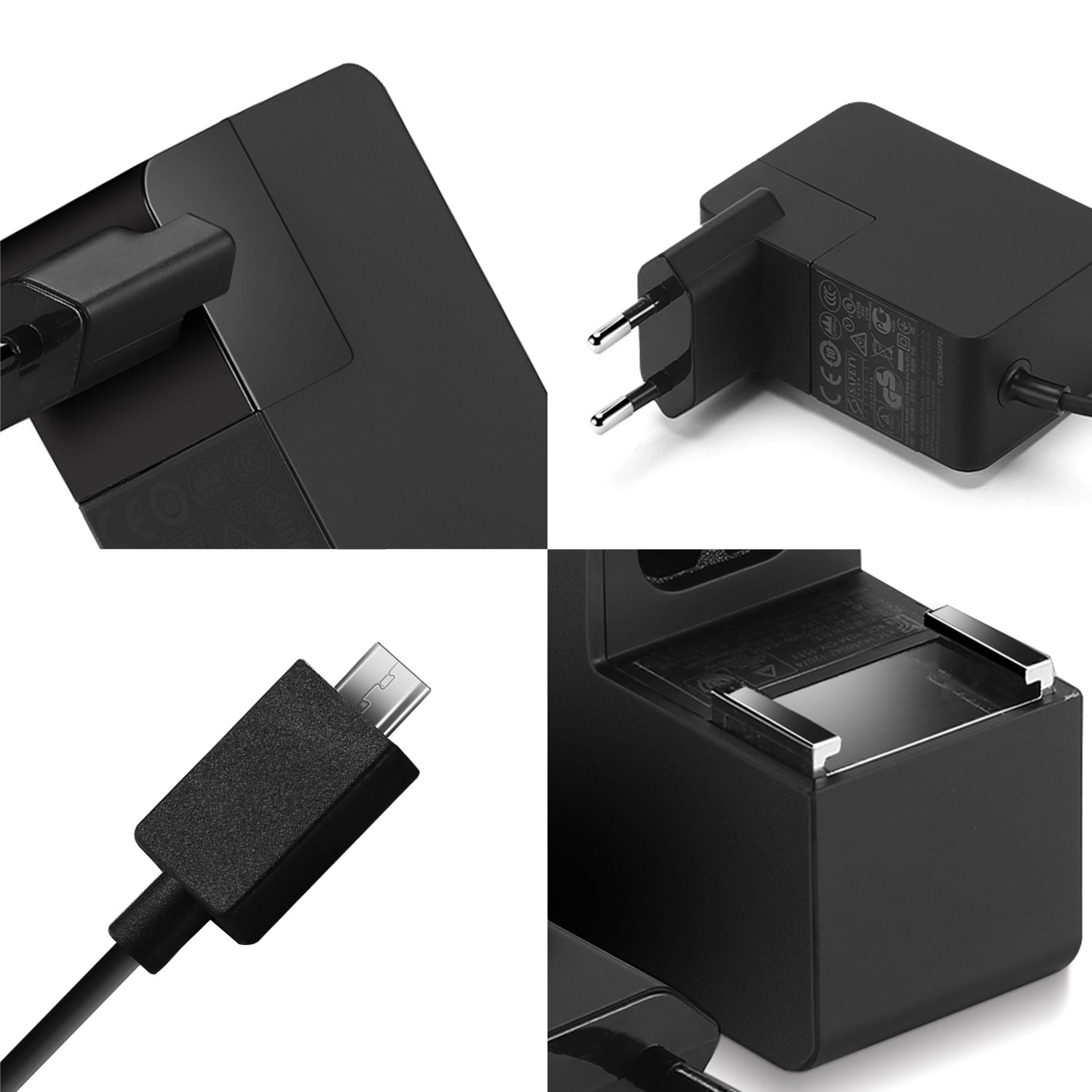 Surface 3 caricabatterie,YOUNGE 5.2V//2.5A 13W caricabatterie AC alimentazione adattatore per Microsoft Windows Surface 3 Tablet