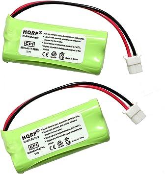 HQRP Dos Baterías para AT&T LUCENT EL52400 / EL52450 / EL52500 / EL52510 / TL32100 / TL32200 / TL92470 Teléfono inalámbrico + HQRP Posavasos: Amazon.es: Electrónica