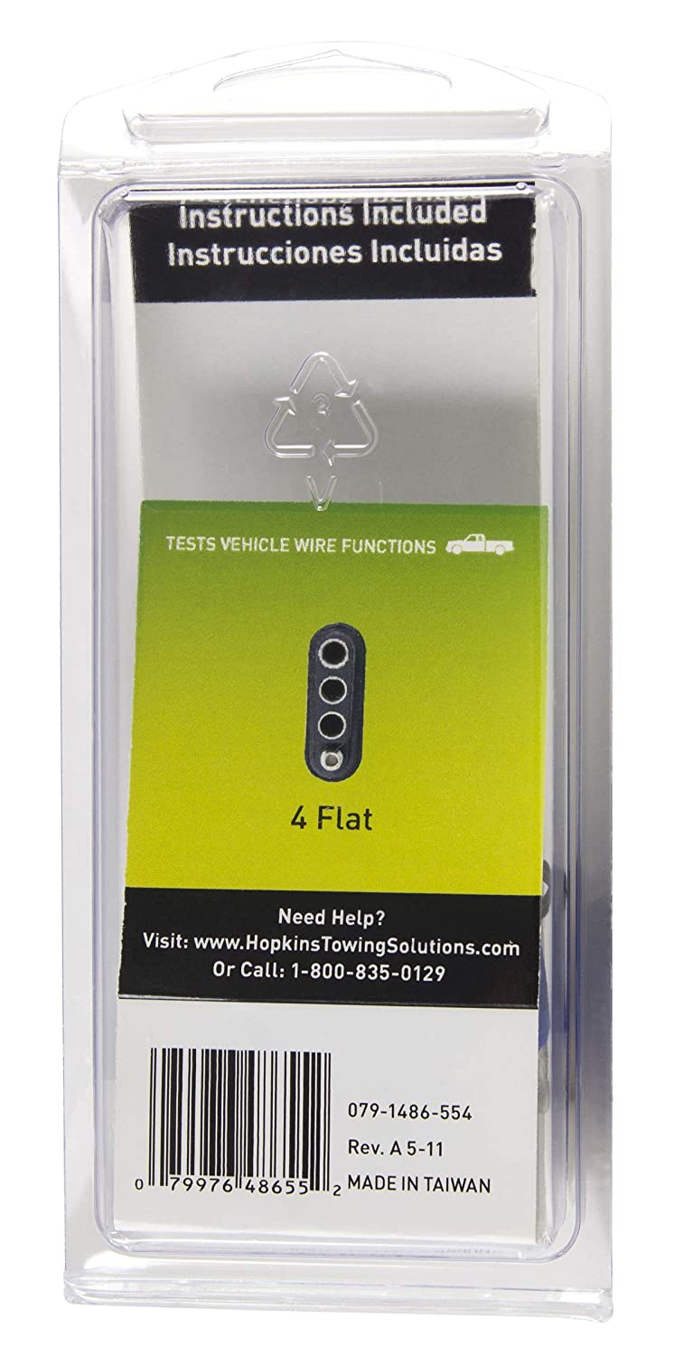 Hopkins 48655 4 Wire Flat Tester Keychain Hopkins Towing Solution