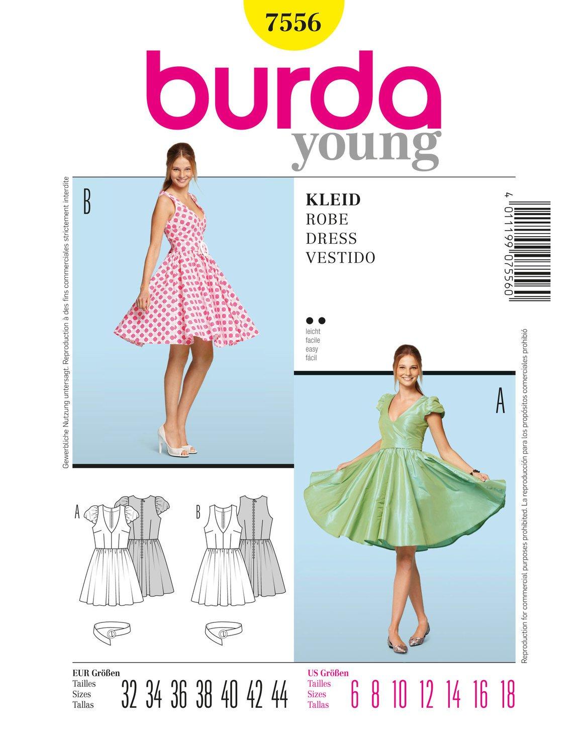 Burda Dress Sewing Patterns 7556 by Burda   B003620JDM