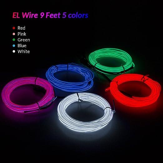 Amazon.com: Zitrades EL Wire Portable Neon Light for Parties ...
