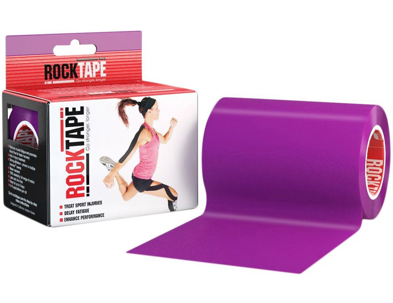 RockTape Active-Recovery Kinesiology Tape for Athletes - Uncut Roll - Extra Wide, Purple, Discontinued by RockTape