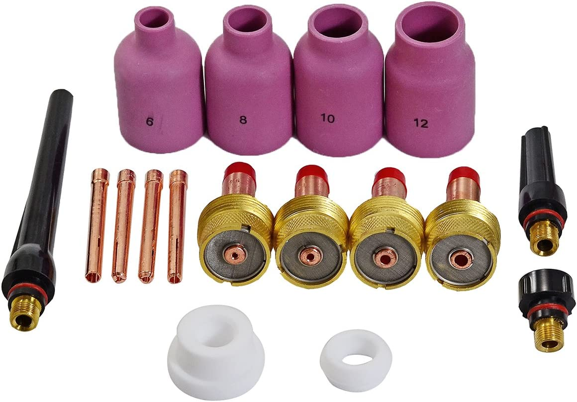 """2 pcs 45V63  Large Gas Len Collet Bodys for Tig Torch WP-17//18//26 4.0mm 5//32/"""""""