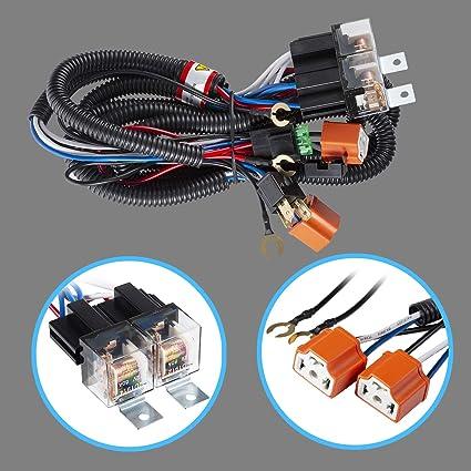 Amazon.com: Tinpec Headlight H4 Headlamp Light Bulb Ceramic Socket on g9 wiring harness, s13 wiring harness, h3 wiring harness, h7 wiring harness, h15 wiring harness, e2 wiring harness, h11 wiring harness, f1 wiring harness, c3 wiring harness, h22 wiring harness, h13 wiring harness, h8 wiring harness, b2 wiring harness, t3 wiring harness, h2 wiring harness, hr wiring harness, h1 wiring harness, ipf wiring harness, drl wiring harness,