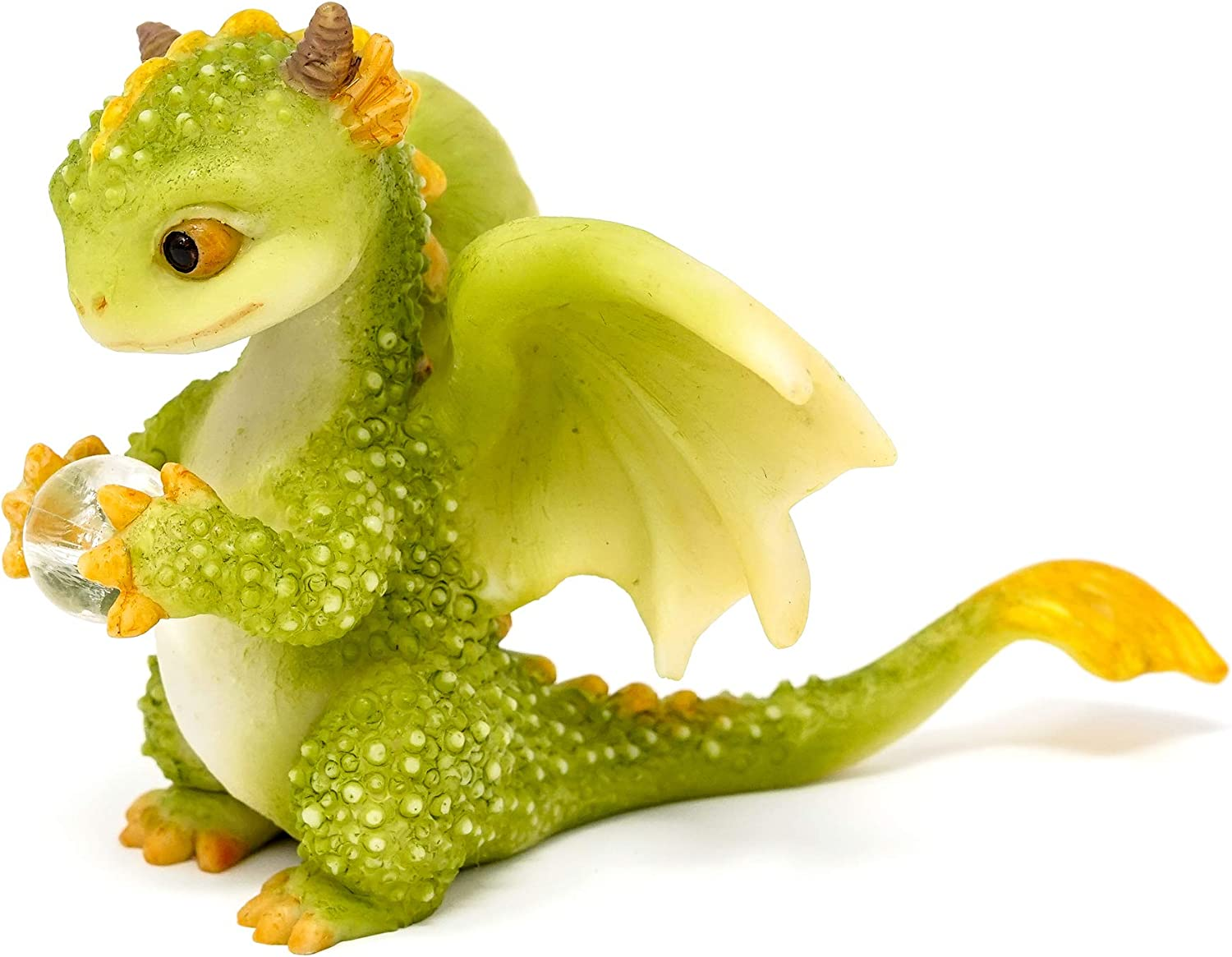 Top Collection Rex The Green Dragon - Mini Collectible Fantasy Figurine (Crystal Orb)