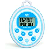 HITO Multifunction LCD Bathroom Shower Clock Timer w/ Temperature(C/F) (Blue)