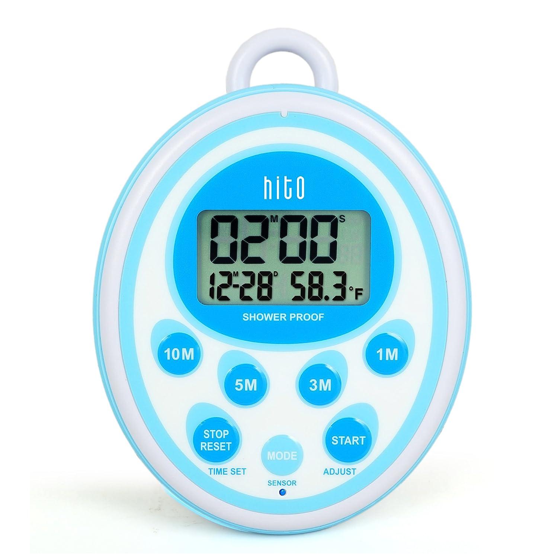amazon com hito waterproof shower clock timer alarm date indoor