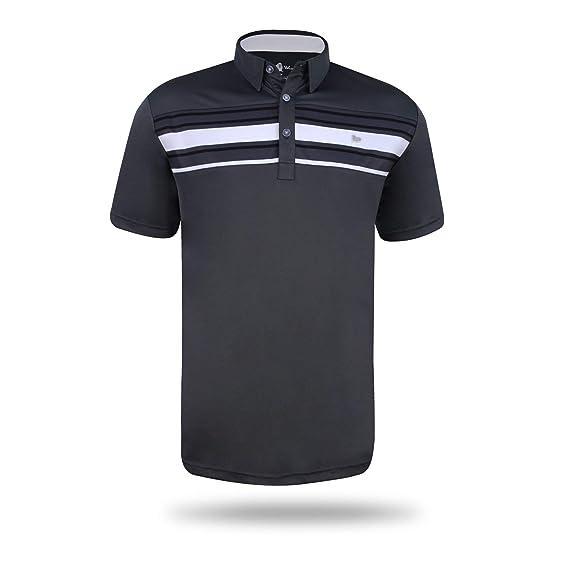 240e6391 Walrus, Mens Mason Bold Stripe Mens Golf Polo Shirt Trendy, Quick Dry, Comfy