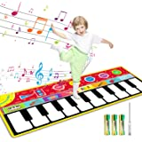 Tencoz Kids Musical Mats, 10 Keys Piano Mat with 8 Selectable Musical Instruments, Floor Keyboard for Boys Girls, Kids…