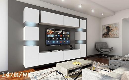 FUTURE 14 Moderno Conjunto De Muebles De Salón, Exclusivo Centro De Entretenimiento, Mueble TV, Gran Variedad