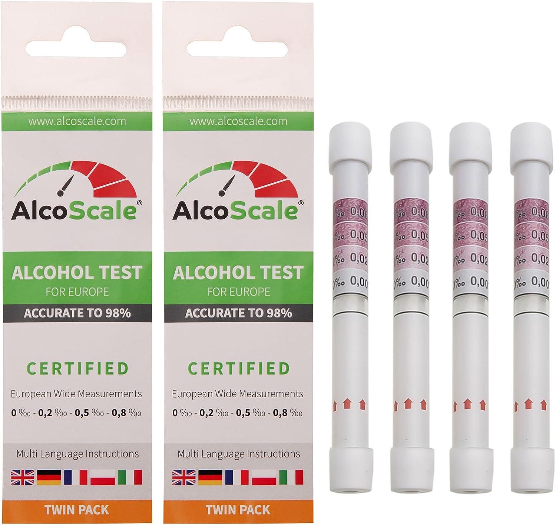 Alcoscale 4 Alkoholtester Für Europa De Fr It Gb Pl 2 X Twin Pack Drogerie Körperpflege
