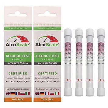 Alkoholtester zur Selbstkontrolle One+Step 5 St/ück Speichel Alkoholtester Alkohol Test Alkohol-Schnelltest f/ür Europa