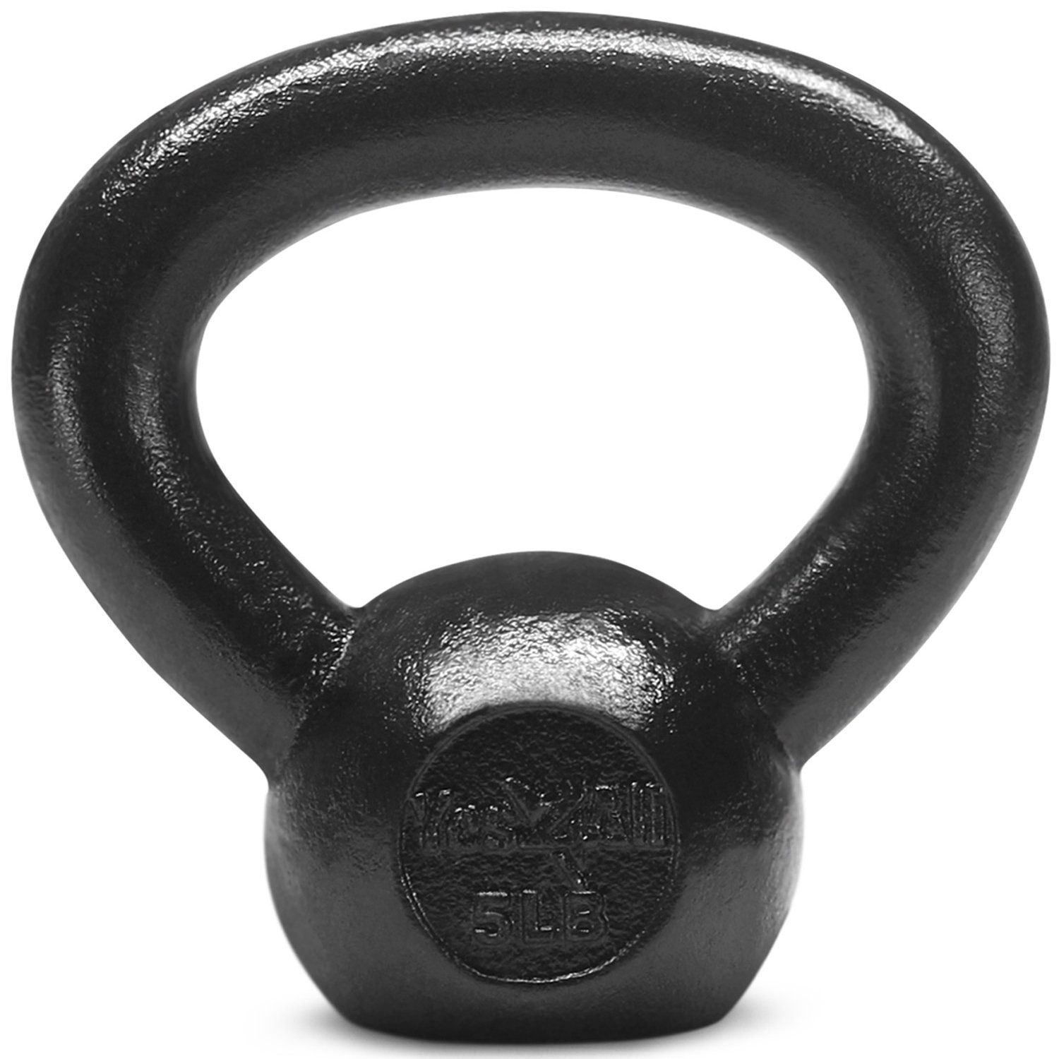 Yes4All Solid Cast Iron Kettlebell Weights Set – Great for Full Body Workout and Strength Training – Kettlebell 5 lbs (Black)
