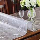 """LovePads 2mm Thick Custom Cosmos Table Tops Protector Cover Plastic Tablecloth Wood Furniture Dining Coffee Side End Bar Table Topper Desktop Protective Desk Chair Pad Mat PVC Vinyl 60"""" x 120"""""""