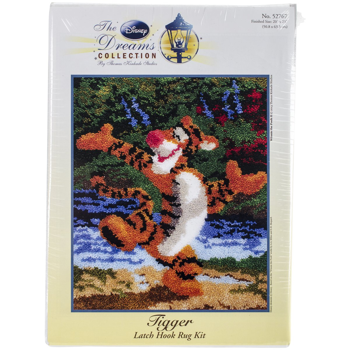 M.C.G. Textiles 52767 Tigger Rug Disney Dreams Collection by Thomas Kinkade Latch Hook Kit, 21 by 25-Inch MCG Textiles