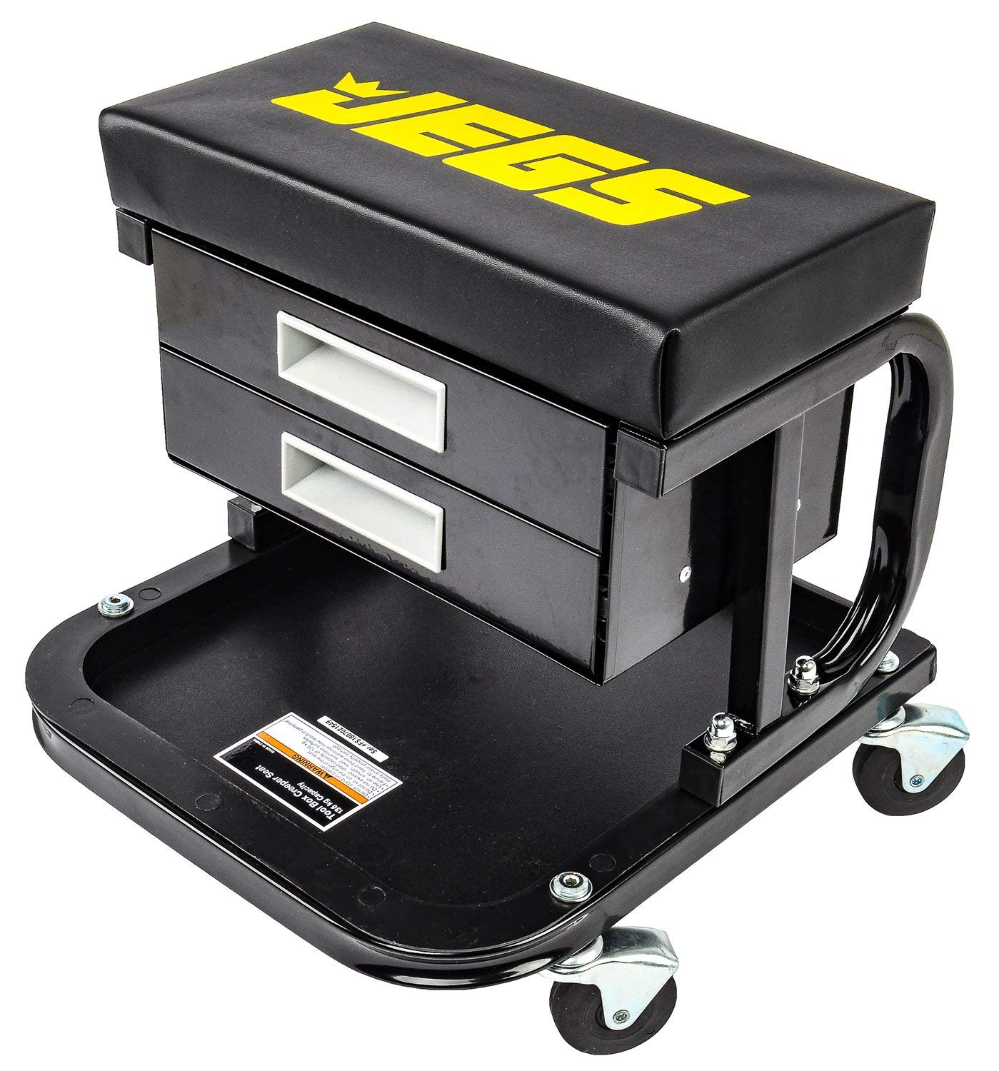 JEGS 81168 Mechanic Seat Capacity: 300 lbs. Seat Height: 14 in. Padded Seat: 14 by JEGS