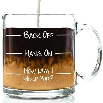 Amazon Com Back Off Funny Glass Coffee Mug Best Birthday Gift For