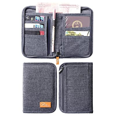 Genbagbar RFID Family Travel Document Organizer Travel Wallet Passport Holder Waterproof