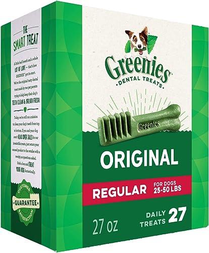 Greenies Original Regular Natural Dental Dog Treats 25 – 50lb. dogs