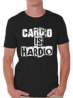 Awkward Styles Men's Cardio Is Hardio T shirt Tops White Workout Gym