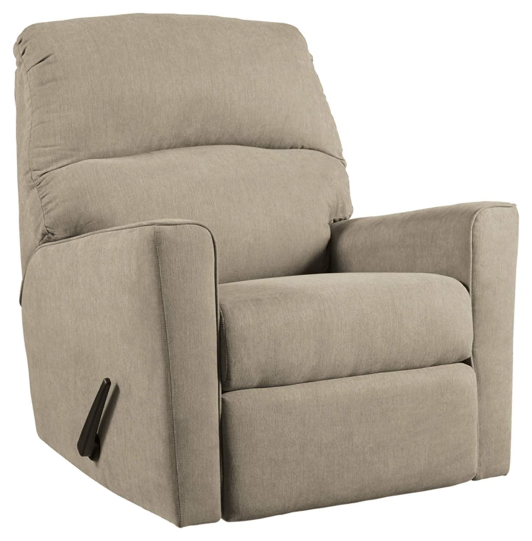 Ashley Furniture Signature Design - Alenya Contemporary Rocker Recliner Chair - Manual Reclining - Quartz
