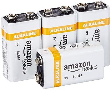AmazonBasics – Pilas alcalinas de 9 voltios de uso diario (pack de 4 uds.)