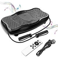 FITTIME Vibrationsplatt Fitness Profi Vibrationsgerät Trainingsgerät + LCD-Display + USB-Lautsprecher + 150