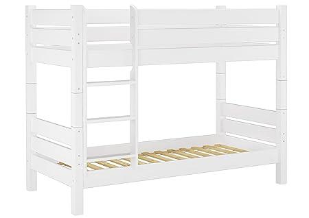 Etagenbett Holz 90x200 : Erst holz® 60.16 09 w t80 etagenbett für erwachsene weiß 90x200