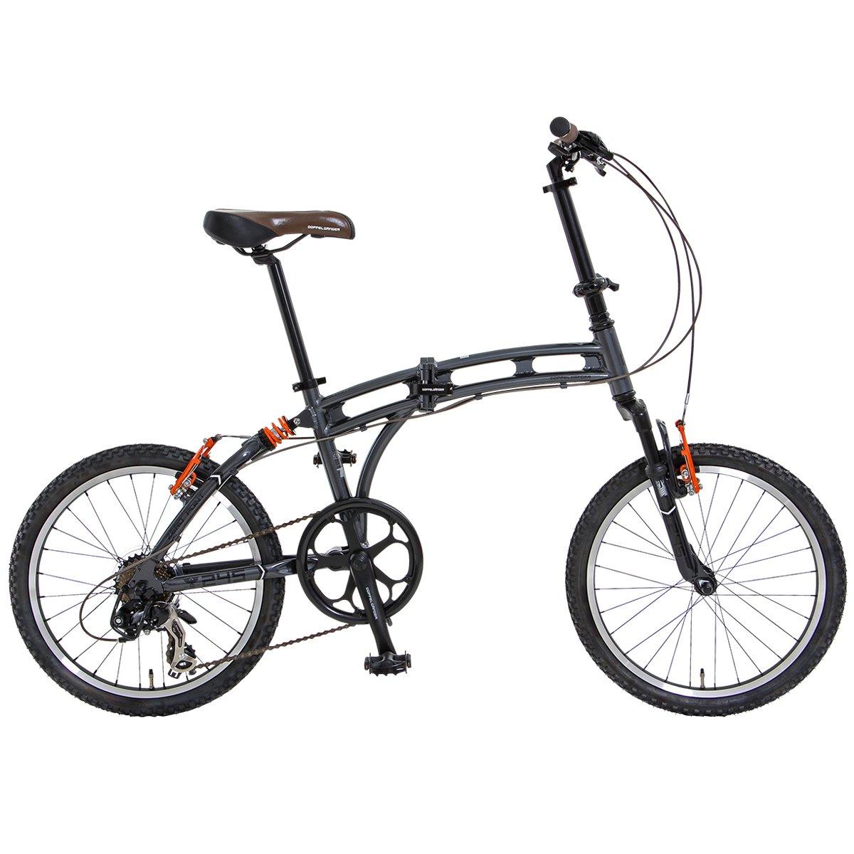 DOPPELGANGER(ドッペルギャンガー) 折りたたみ自転車 BLACKMAXシリーズ ZERO POINT 20インチ パラレルツインチューブフレーム採用モデル B00A8CTNI0