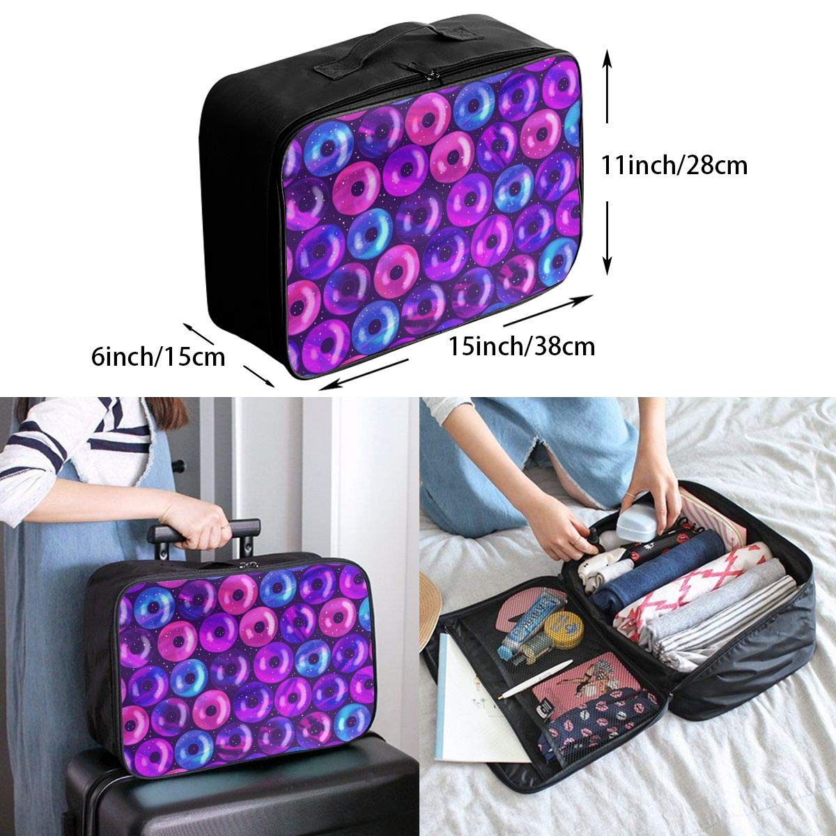 Travel Luggage Duffle Bag Lightweight Portable Handbag Doughnut Large Capacity Waterproof Foldable Storage Tote