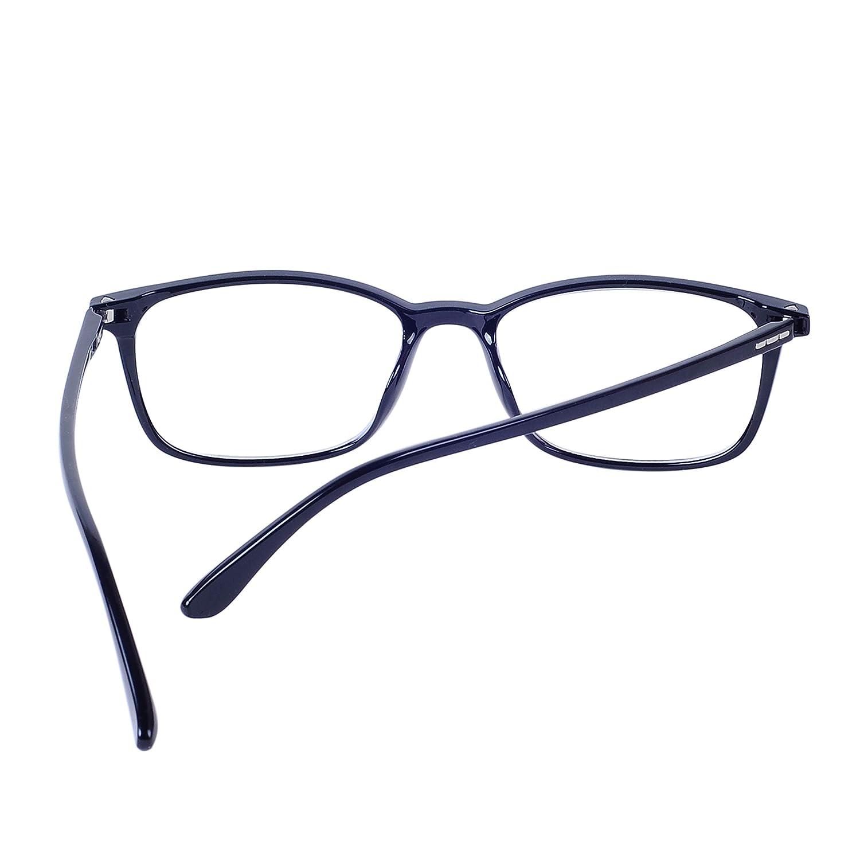 55-59 ans Lens Anti Fatigue Monture TR90 avec /Étui avec Chiffon nettoyant Lunettes de Lecture Presbyte Anti Lumi/ère Bleue pour Homme et Femme 2.0