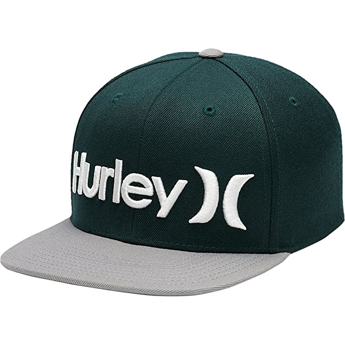 852b0914bee29b Amazon.com: Hurley One & Only Snapback Hat Outdoor Green, One Size: Clothing