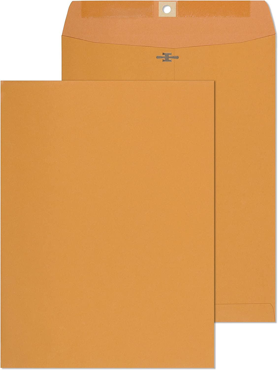 Clasp Envelopes – 9.5x12 Inches Brown Kraft Catalog Envelopes with Clasp Closure & Gummed Seal – 28lb Heavyweight Paper Envelopes for Home, Office, Business, Legal or School - 30 Pack