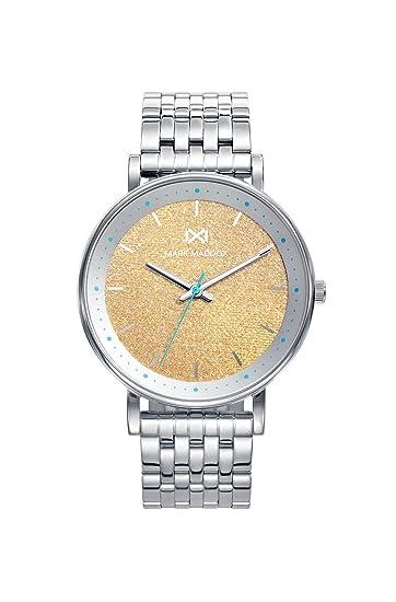 Mark Maddox Reloj Analógico para Mujer de Cuarzo con Correa en Acero Inoxidable MM0104-76: Amazon.es: Relojes