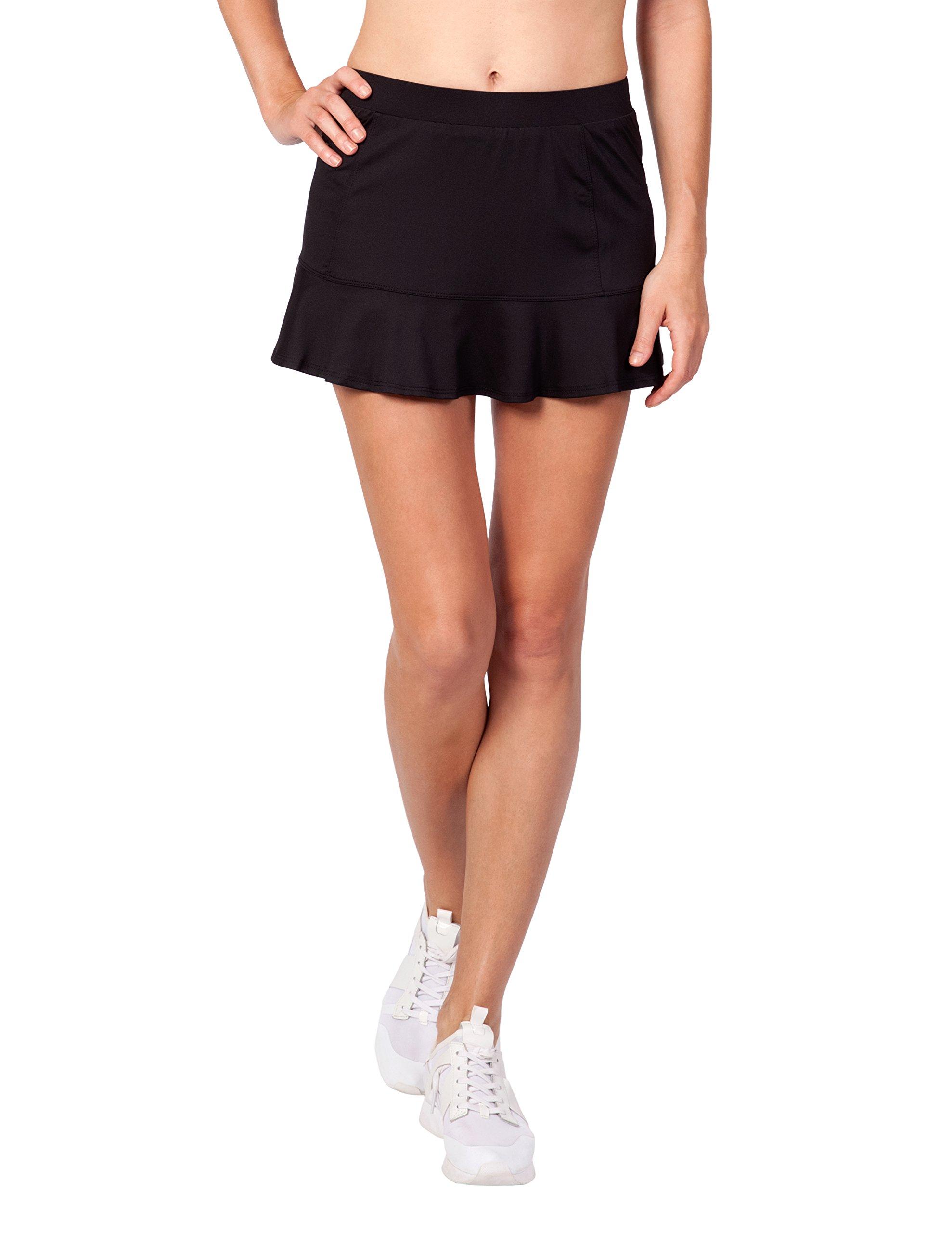 Tail Activewear Women's Jennifer 12.5'' Length Flounce Skort Medium Black