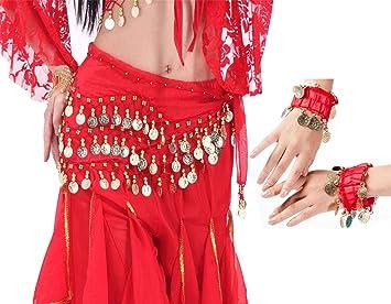 LZYMSZ Bufandas de Cadera para Danza del Vientre, Faldas con Forma ...