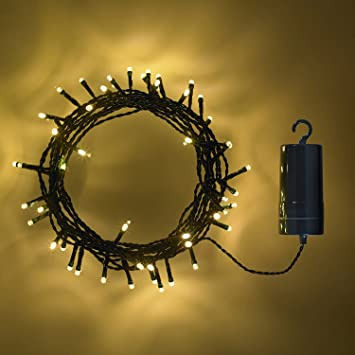 Outdoor Battery Operated Fairy Lights Lights4fun 100 warm white led outdoor battery operated fairy lights lights4fun 100 warm white led outdoor battery operated fairy lights on green cable by workwithnaturefo