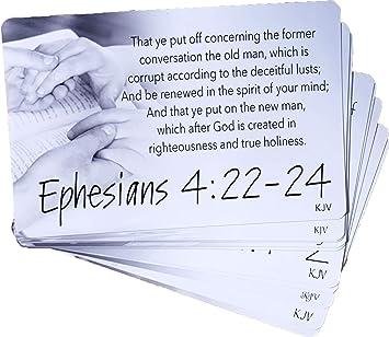 Amazon.: Walk Like Jesus Scripture Cards (10 Pack) KJV