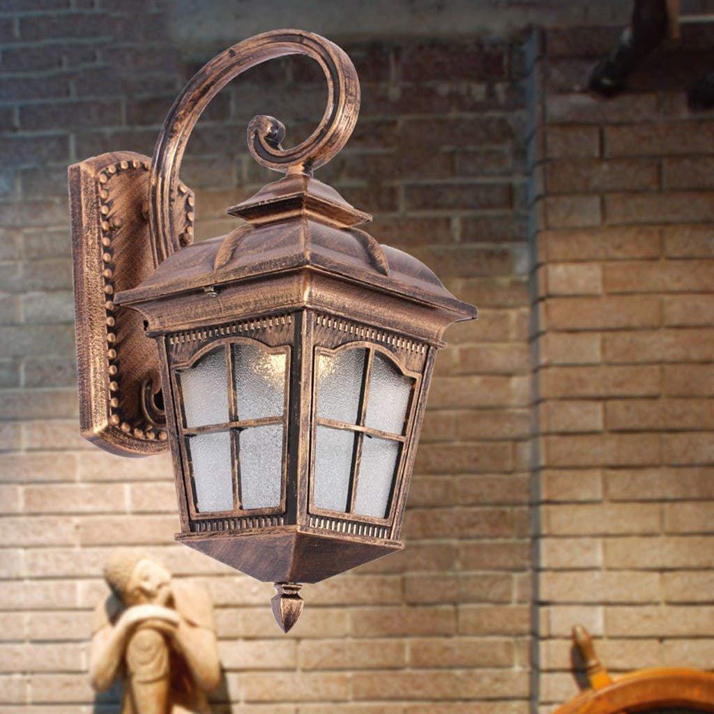 JU Lampen Wandleuchten Wandleuchten im europäischen Stil Retro Garten Lampen im Freien Wasserdichte Wandlampen B07HL5RKVH | Online Shop Europe